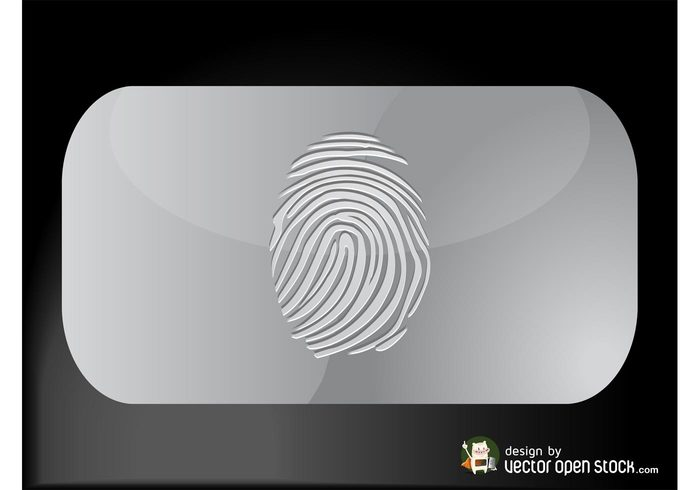 template silver print metallic identity ID fingerprint crime corporate business cards business Biometrics