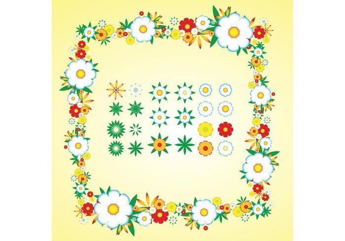 swirl sweet summer spring seasonal retro pop plant fun flower flourish floral fleur daisy colorful cheerful celebration bright