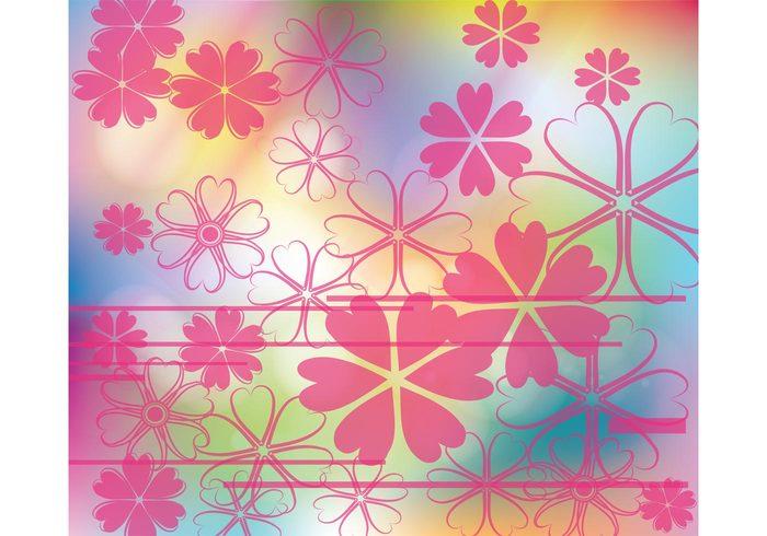 summer spring seasons mesh background fresh flowers Flower shapes Floral decoration floral colors colorful