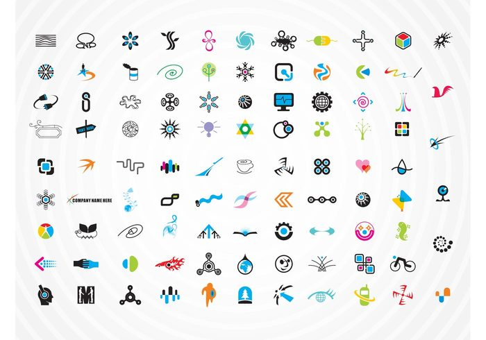 technology swirl spiral screen people emoticon emblem cube cross coffee buttons bicycle avatar arrows