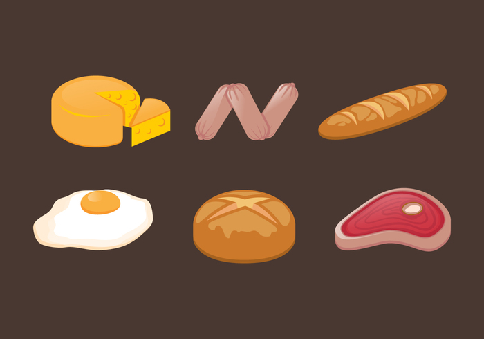 vector Tasty taste steak snack side dish set sausage salad restaurant plate object nutrition menu meat meal mashed lunch kitchen illustration icon Hot dog grilled food fish fastfood fast elements eat dish dinner design delicious Culinary Cuisine cooking cook colorful chicken bratwurst background