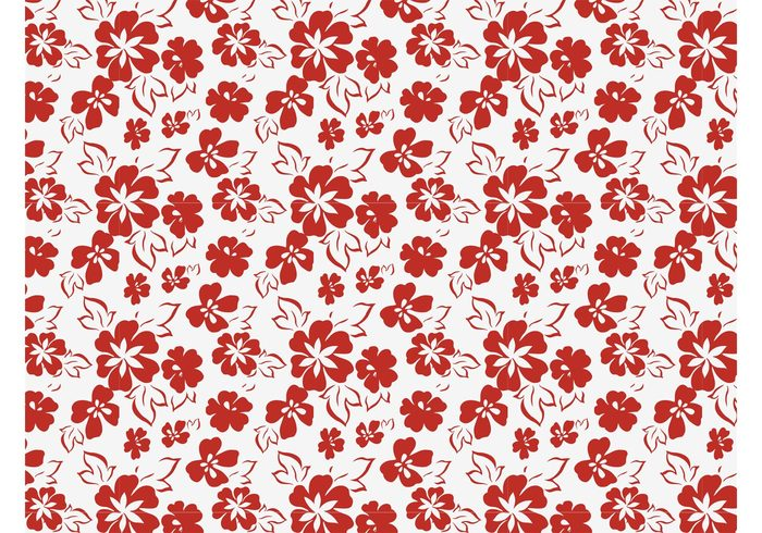 stylized sprint sixties seventies plants petals nature leaves hippie garden flowers flower power fabric pattern blossom bloom