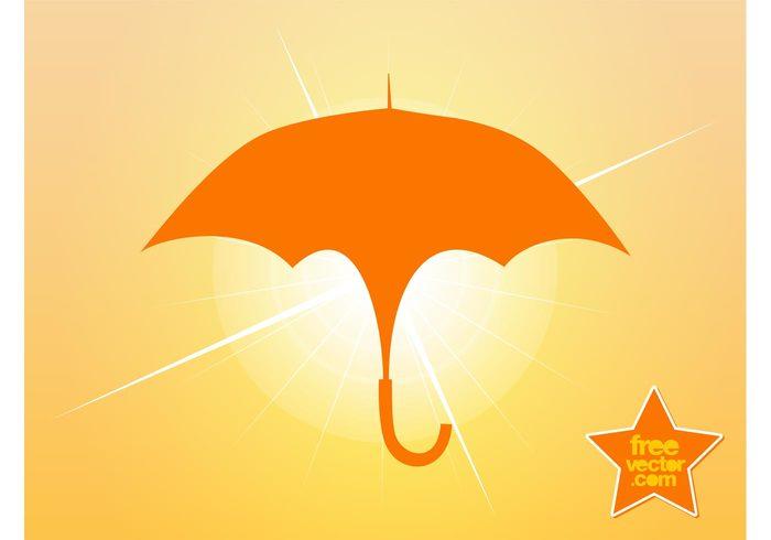 weather umbrellas symbol silhouette raining rain logo icon handle Ferrule accessory