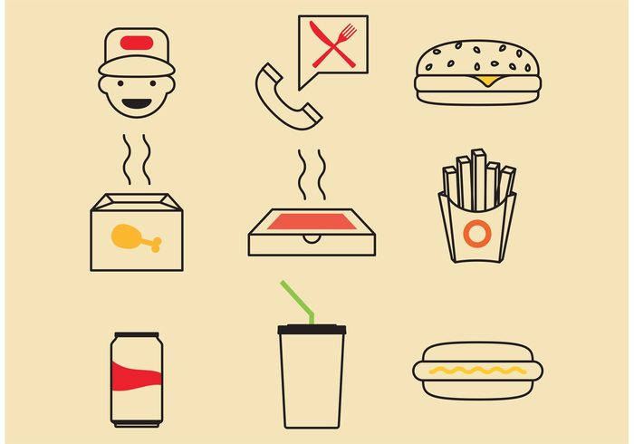 takeout stand soda snack silverware restaurant potato plate pizza order menu meal lunch junk food hotdog hamburger guy Fried food fast drink dining delivery deliver daily chicken bone chicken Cheeseburger burger box