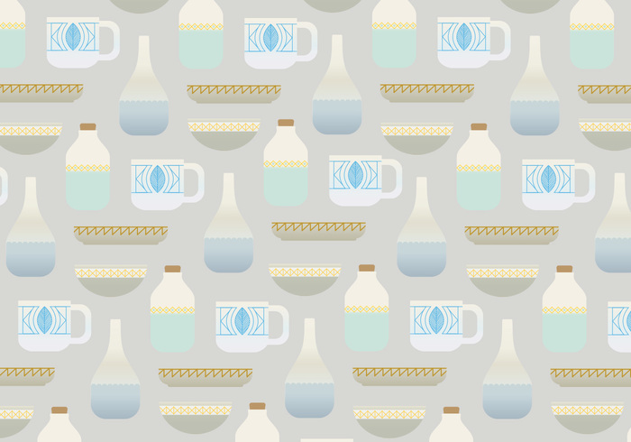 wallpaper vector pattern vector background pots plates pattern pastel colors kitchen utensils kitchen cups cooking ceramics bowls background