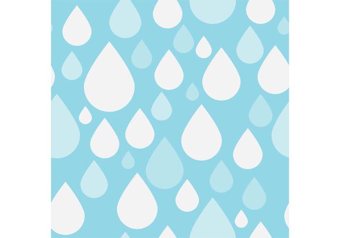 weather water wallpaper seamless rainy rain pattern drops day blue