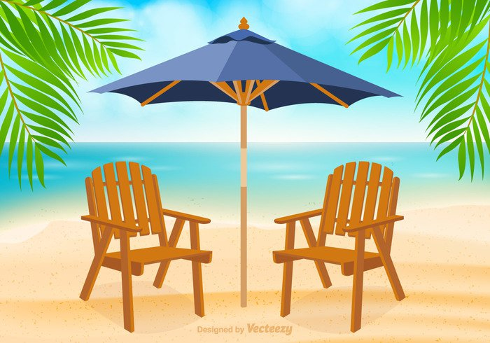 water vector vacation umbrella travel tourist surf sunbathe summer sky seascape scenic scene sandy sand resort Relaxation red Outdoor ocean lounge illustration Idyllic holiday gradient empty element Destination design coast clip chair beach background art adirondack chair beach