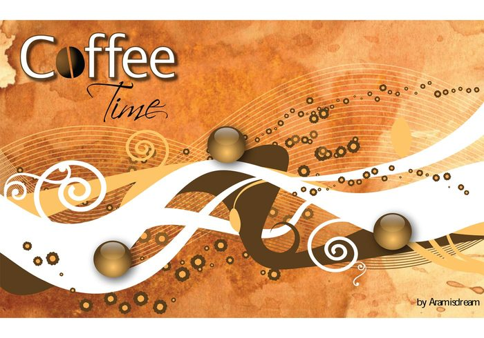 wallpaper ribbon poster marketing illustrator illustration coffee bean coffee brochure background advertising abstract