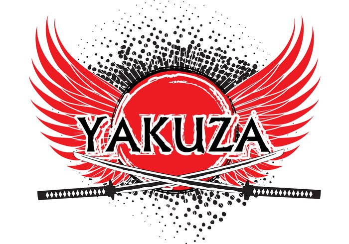yakuza white syndicate symbol smart sign samurai sake S peace member logo line latter knife japan hat group gokudo gang drug dragon dirty death crime business boss background amputation
