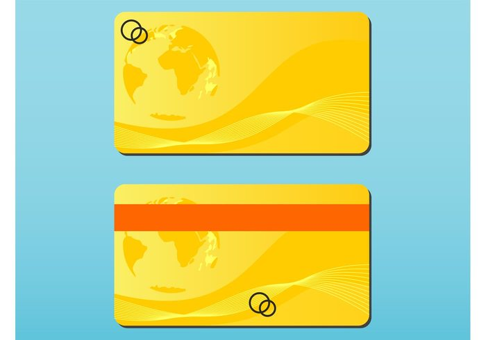 world templates money lines globe global financial earth decorations Debit cards credit cards continents business cards