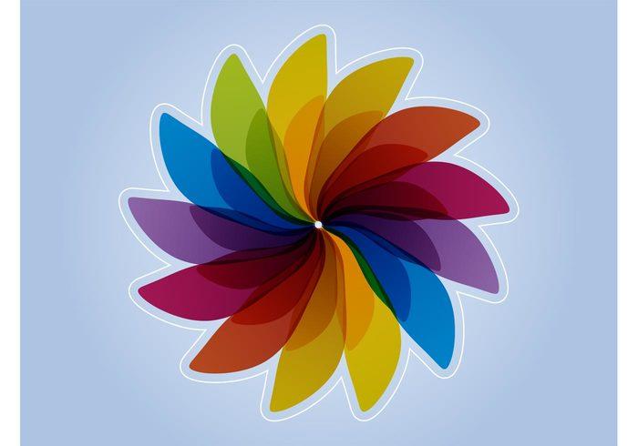 spring plants petals multicolored logo icon floral decorative decoration colors colorful blossom bloom