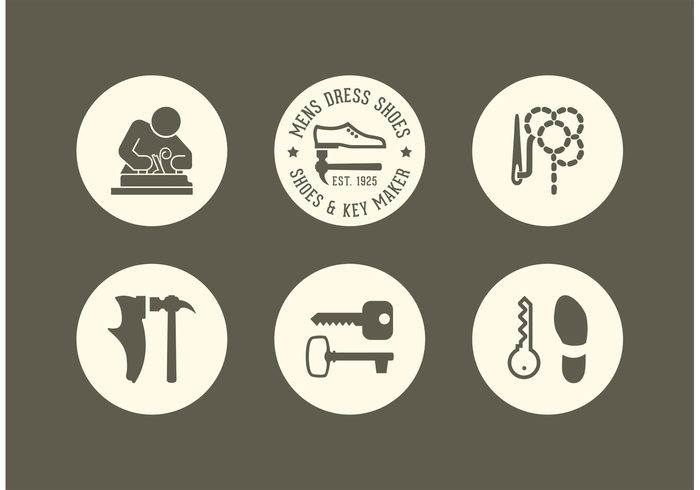 free shoe and key maker vector icons 144149 welovesolo