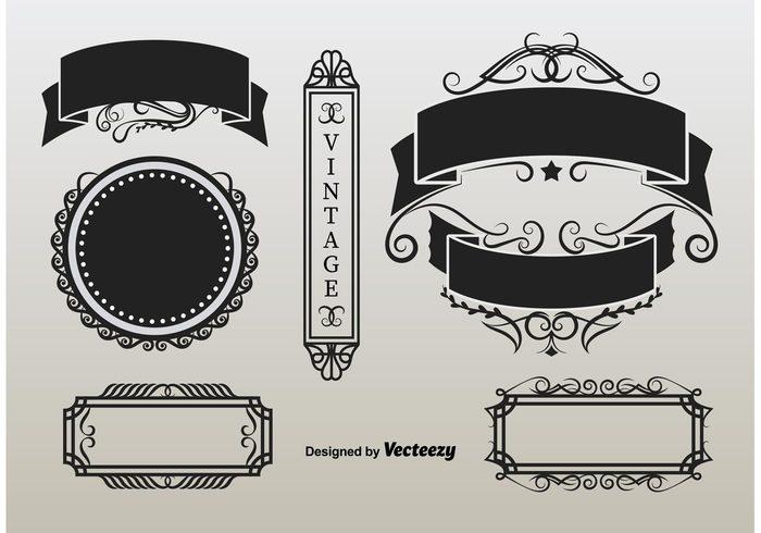 vintage vignette typographic tag style stamp retro quality ornamental old nostalgia label invitation frame floral element elegant design decorative decoration classical certificate calligraphy border