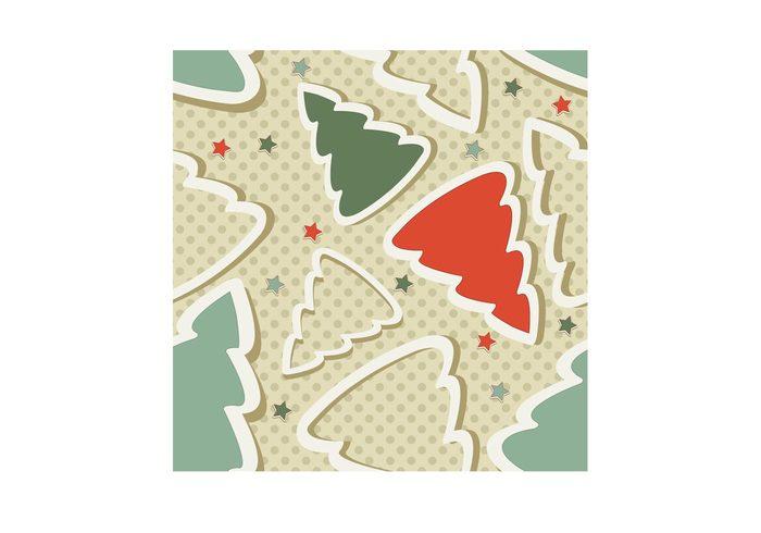 xmas tree xmas wish tree star presents pattern Noel holidays Giving gifts decorations circle christmas