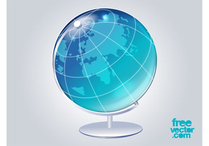 world shiny planet map logo icon glossy globe global geography earth continents 3d