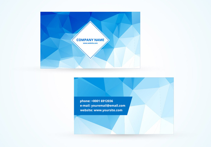 Blue polygonal vector business card welovesolo blue polygonal vector business card reheart Image collections