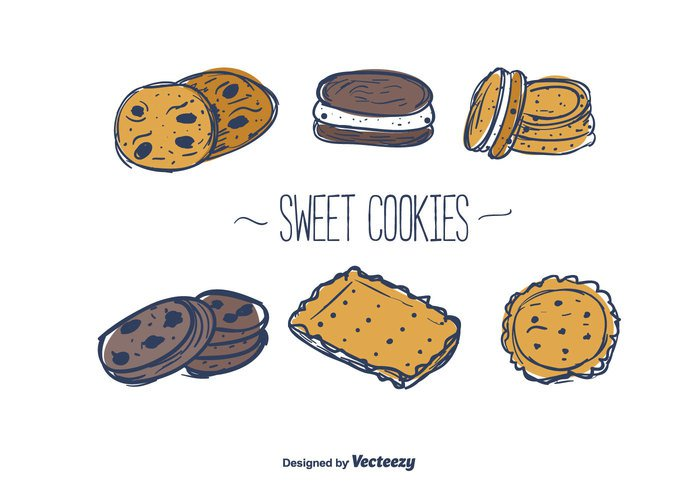 vector texture sweet set pastry menu cookie illustration free food dessert delicious crunchy cookies chocolate cake Biscuit bakery background