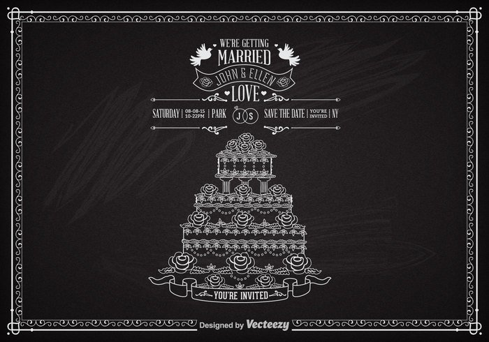 wedding vintage Unusual typography symbol sweet sketch sign save rings ribbon retro party love Lettering invitation illustration heart handdrawn flowers floral engagement elements drawn design decoration decor day date chalkboard chalk celebration card calligraphy calligraphic cake with roses vector cake blackboard birds background art arrow announcements anniversary advertisement