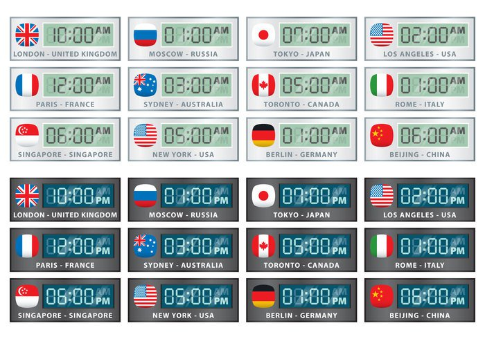 zone white watch vector United Kingdom toronto Tokyo time zone time symbol Sydney states star south Singapore sign russia Rome Paris new york Moscow Los Angeles kingdom japan Italy illustration graphic globe flag digital design country color clock Berlin Beijing bangkok background Australia art america abstract