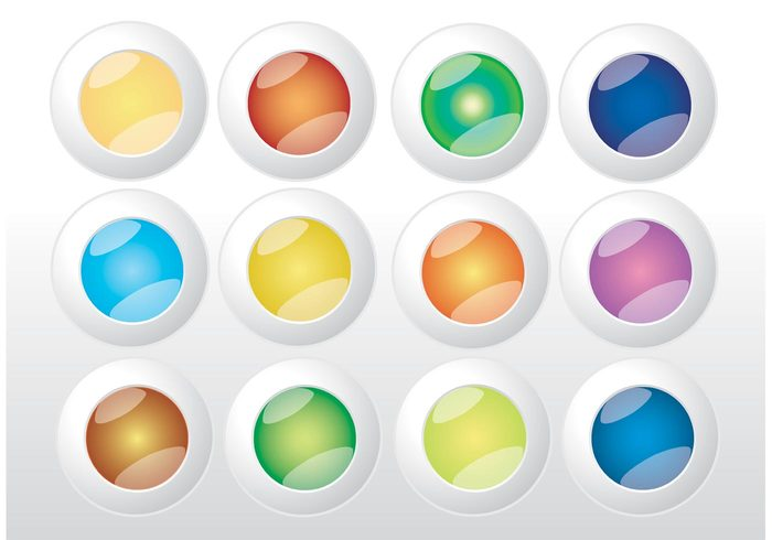 web template shiny round print layout interface gradient Design footage Copy-space colors circles buttons blog background backdrop abstract 3d