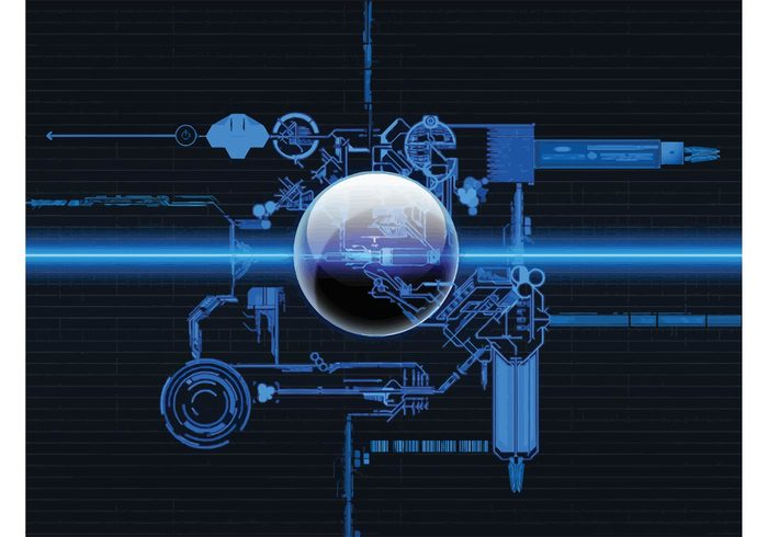 pattern modern mechanic machinery layout internet hi tech gear futuristic electronic connection concept computer circle background art abstract