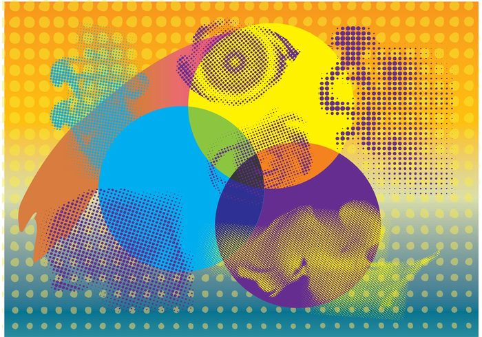 stains spotted printing halftone gradient Fisheye drop dotted dot Background graphics Backdrop design Abstract vectors