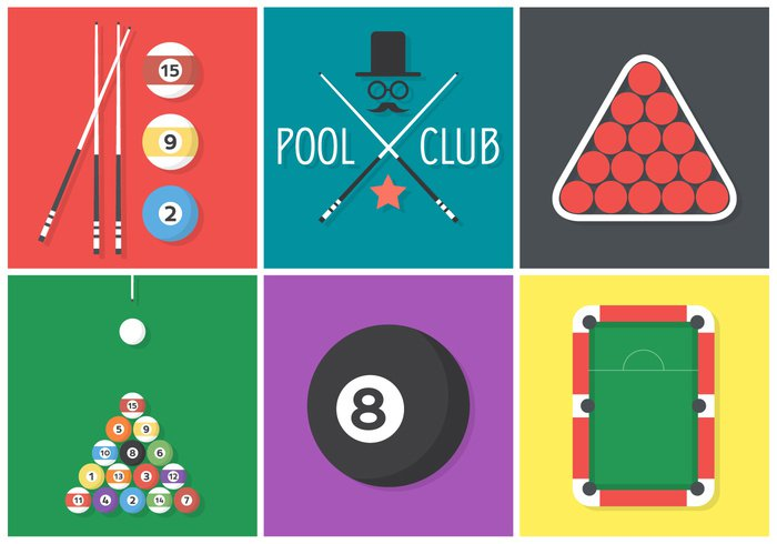 triangle table success star sport snooker sign set pool sticks pool stick pool play moustache leisure isolated illustration icon green graphic game flat design flat element cue competition club billiards billiard balls ball background accessories