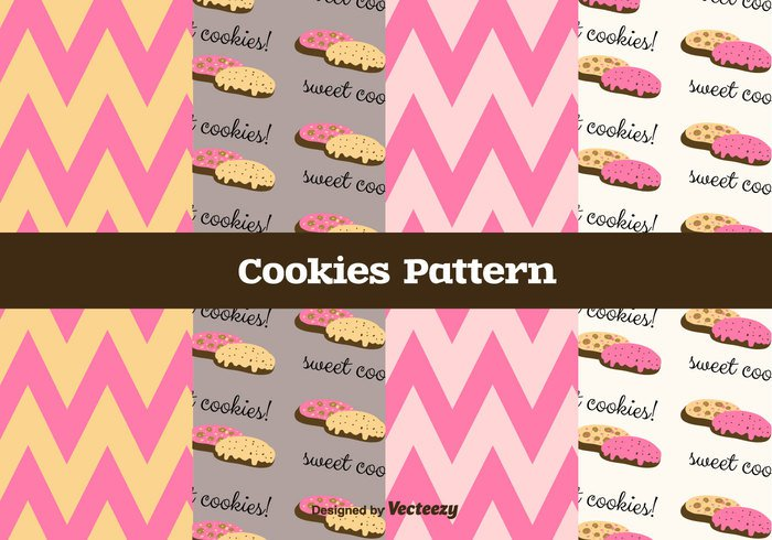 vector texture sweet pattern pastry menu cookie illustration food dessert delicious crunchy cookies chocolate chevron pattern vector cake Biscuit bakery background