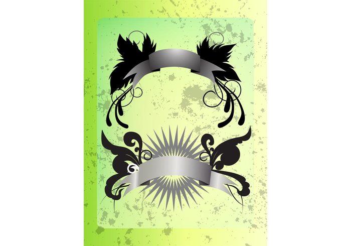 wings textures stars star burst splatter splash ribbon grunge fly feathers distress banner vectors banner Backgrounds