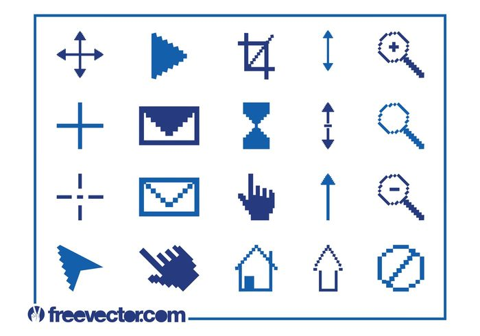 zoom technology tech retro play pixels pixelated pixel mail interface icons icon home cursor hand crop computer 8 bit