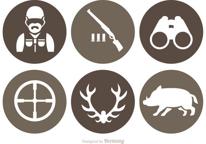 wildlife wild hog wild shotgun shells shotgun shell shotgun shot man hunting icon hunting hunter hogs hog silhouette hog deer binoculars binocular antlers antler Aim