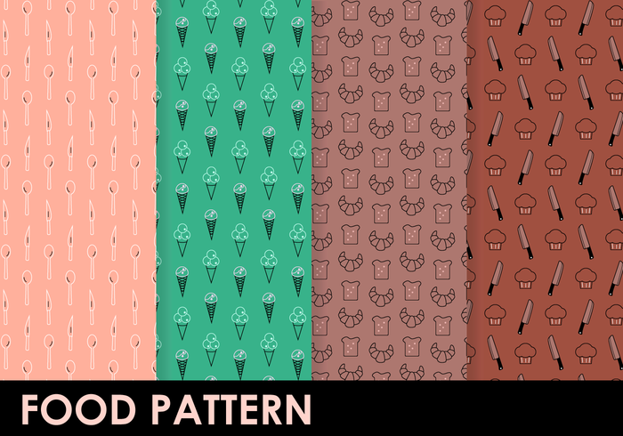 toast sweets sweet snow cone cup seamless restaurant pattern pastries muffin menu icecream food cutlery cupcake croissant cook bakery baker background