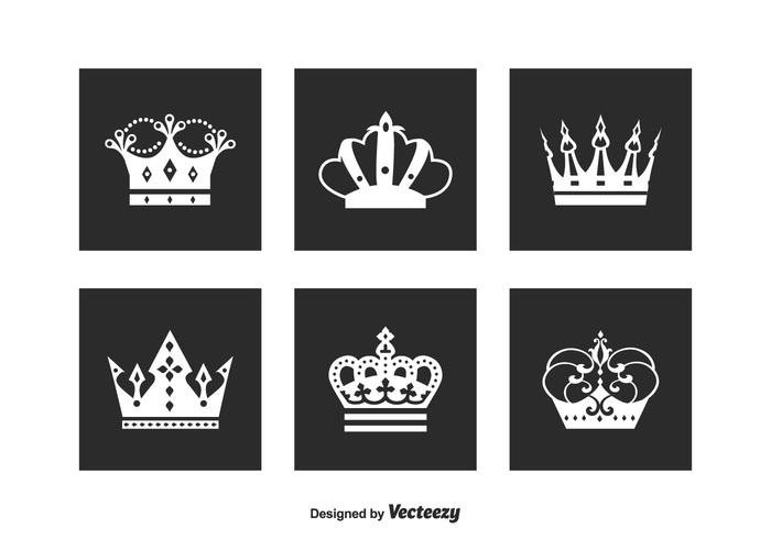 Free Crown Logo Vector Set 134543 Welovesolo