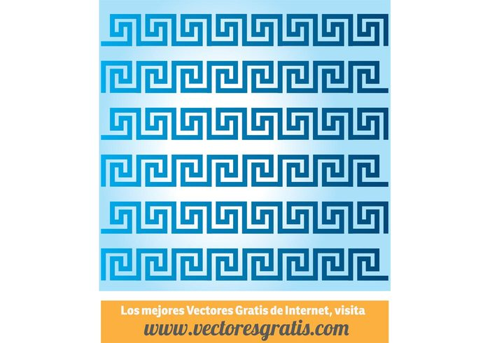 repeating pattern motif Meandros historic greek greece decoration decor classical border architecture antique ancient