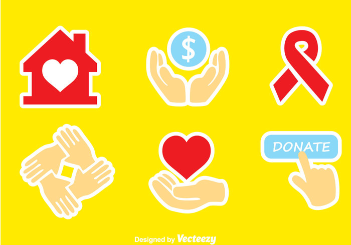 trust symbol support social sign people money love life Human hope hearth hand donate icons donate icon donate care Aids