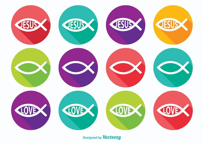 Christian Fish Symbol Icons Welovesolo