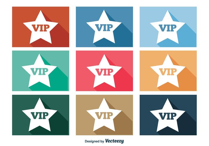 VIP star vip icons vip icon vip very vector trendy icons trendy symbol success stars star stamp sign shape shadow icons shadow set royal rich quality person Membership member luxury long shadow long label important illustration icon set icon green flat concept button blue badge app
