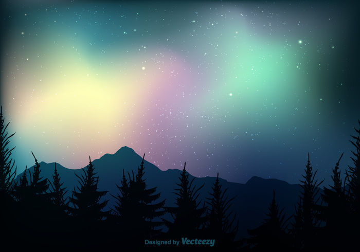 vector trees texture template star sparkling spark space sky shooting shiny romantic reflection Polar pine norway northern lights Northern north night nature mystery mountain magical luxury lights illustration hipster gradient glow glitter forest effect dream dark cosmos colors colorful bright borealis blurred blank black beautiful background backdrop aurora astral animal abstract