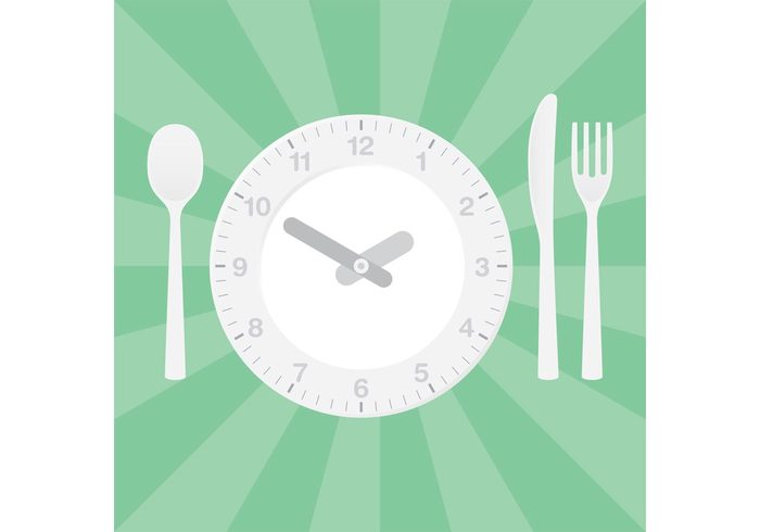 watch utensil time to eat time table setting setting restaurant plate nutrition minute meal lunch kitchen hour health food eat dish dinner diner table setting Cuisine clock dish clock cafe business