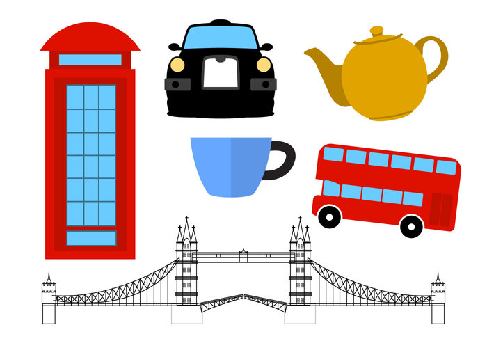 United UK travel symbol red London kingdom icons i love uk flat flag Europe english England city bus British Britain Bridge big