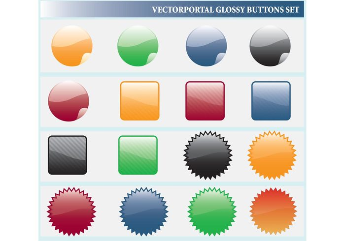 visual shiny shape online illustrator illustration icons glossy design computer collection clip art clean buttons background backdrop abstract 3d