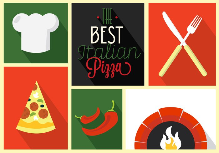 wood vintage tomato symbol slice sign set retro restaurant Pizzeria pizza oven pizza Oven logo label knife Italy italian isolated illustration icon hat fork food flat fire fast emblem design delivery cooking chilli chef brick background