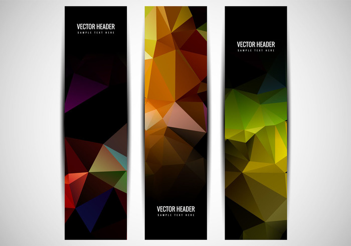 website web technology techno tech poster polygonal banner polygonal polygon header fondos decorative colorful card banner background abstract