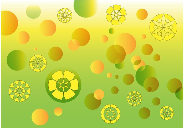 wallpaper theme spring spiral sphere rounds round green fresh decorative circular circle bubbles bubble background abstract