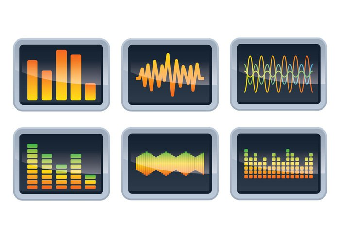 Waveform wave volume voice vector tune track technology symbol spectrum speaker soundwaves sound bars sound signal shape science Recorder record pulse play note music microphone meter melody line illustration graphic graph frequency equalizer energy element electronic display disco digital design bar background audio amplifier abstract
