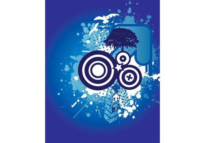 splatter splat spiral shape print presentation poster modern layout fantasy digital design cover card brochure blue background backdrop artistic