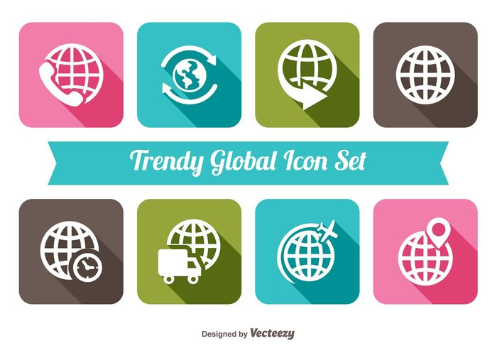 world trendy travel transport technology symbol sphere simple shadow round planet plane pictogram orbit network modern map long shadow logistics internet industry icon set icon globe global geology geography fly flight element ecology earth continent collection clean business astrology arrow around application app africa