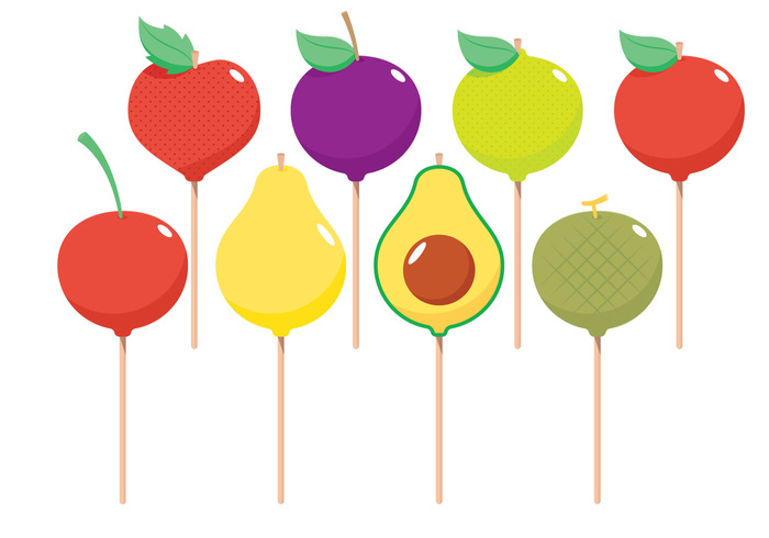 white vector taste sweet sugar strawberry pops plum pear party on mint melon lemon kids isolated illustrations icing funny fruit food dessert delicious clip chocolate cherry celebration celebrate cartoon caramel cake pops cake bread ball bake avocado art apple
