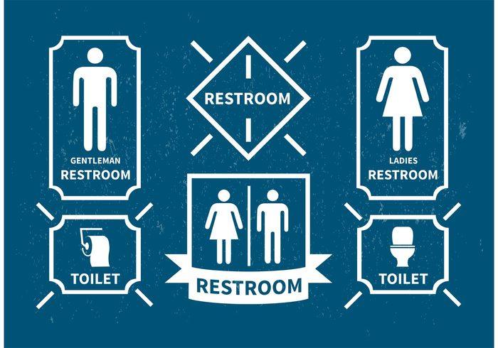 women washroom Vector signs vector icons vector toilet symbol sign room Restroom rest room public people men male lady label information illustration icon Hygiene girl Gentleman gender female bathroom