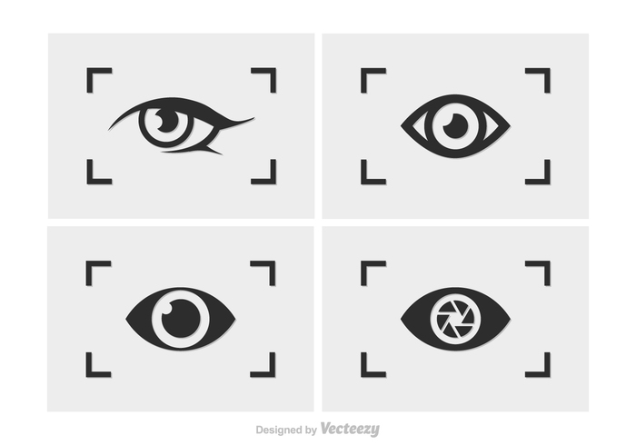 watching viewfinder vector technology symbol silhouette sign Shutter set selfie pin picture photography photographing modern logo lens instant image illustration Idea icon graphic frame flat eyes digital design creative collection capture camera button